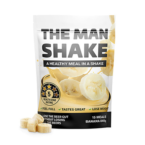 The Man Shake Banana 840g at Blooms The Chemist