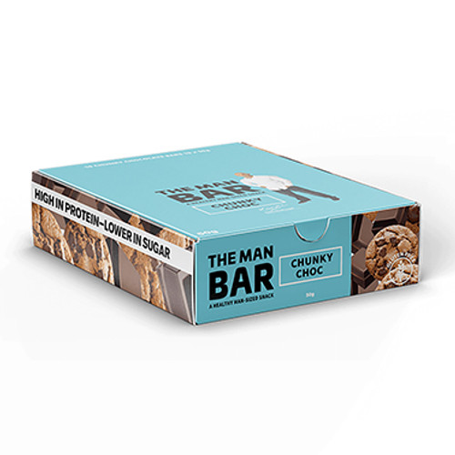 The Man Bar Chunky Chocolate 50g - Pack of 10 at Blooms The Chemist