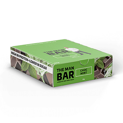 The Man Bar Choc Mint 50g - Pack of 10 at Blooms The Chemist