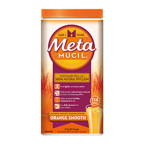 Metamucil Orange Smooth 673g - 114 Dose at Blooms The Chemist