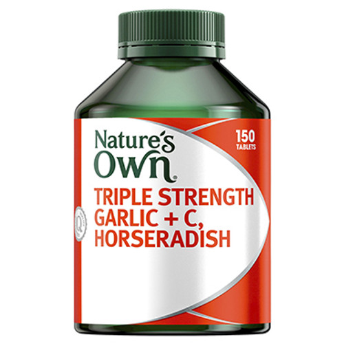 Nature's Own Triple Strength Garlic + C, Horseradish - 150 Tablets