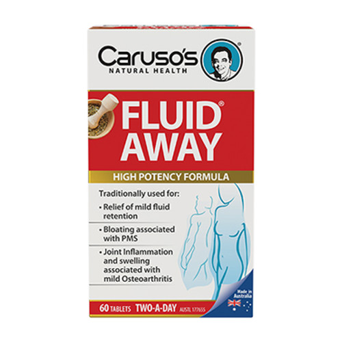 Carusos Fluid Away - 60 Tablets at Blooms The Chemist
