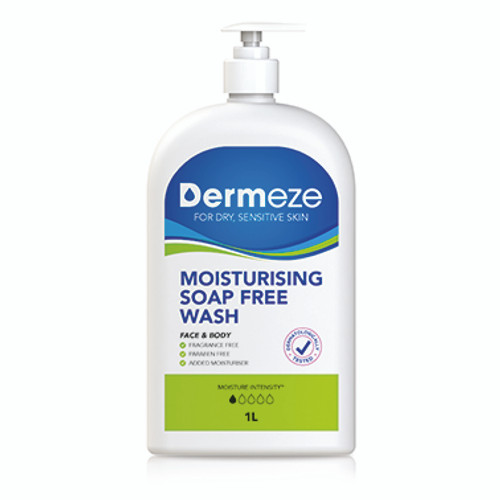 Dermeze Moistursing Soap Free Wash 1L at Blooms The Chemist