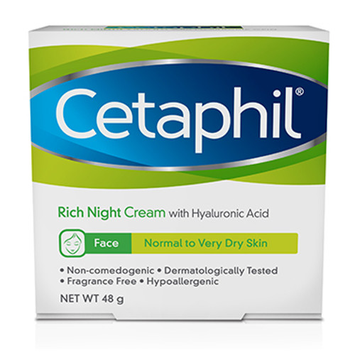 Cetaphil Face Rich Hydrating Night Cream 48g at Blooms The Chemist