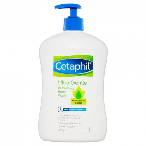 Cetaphil Ultra Gentle Refreshing Body Wash 1L at Blooms The Chemist