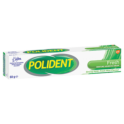 Polident Denture Adhesive Cream Fresh Mint 60g at Blooms The Chemist