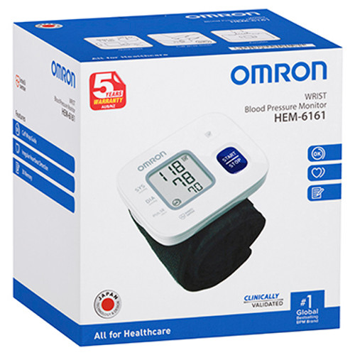 Omron HEM6161 Wrist Blood Pressure Monitor at Blooms The Chemist