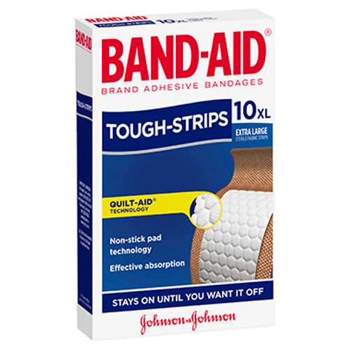 Band-Aid Tough Strips Extra Large Fabric Strips 10 Pack at Blooms The Chemist
