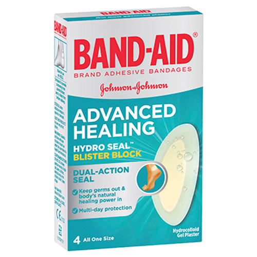 Band-Aid Advanced Healing Hydro Seal Blister Block 4 Pack at Blooms The Chemist