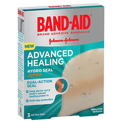 Band-Aid Advanced Healing Hydro Seal Jumbo 3 Pack at Blooms The Chemist