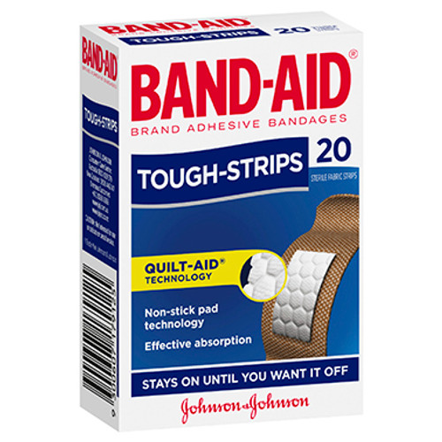 Band-Aid Brand Tough Strips 20 Pack at Blooms The Chemist