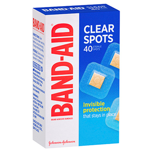 Band-Aid Clear Spots 40 Pack at Blooms The Chemist