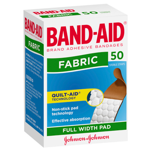Band-Aid Fabric Strips 50 Pack at Blooms The Chemist
