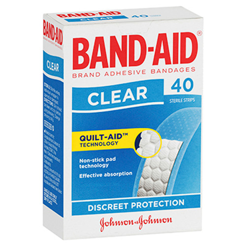 Band-Aid Clear Strips 40 Pack at Blooms The Chemist