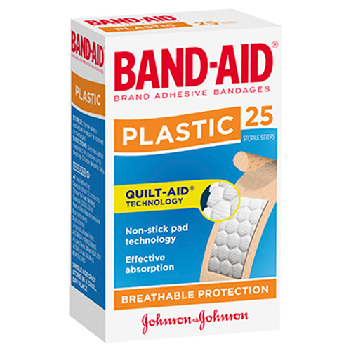 Band-Aid Brand Plastic Strips 25 Pack at Blooms The Chemist