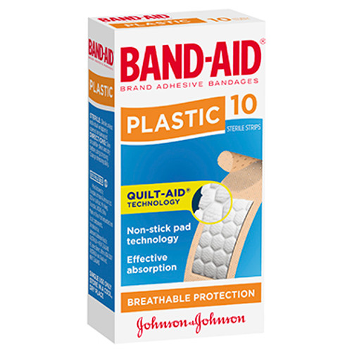 Band-Aid Brand Plastic Strips 10 Pack at Blooms The Chemist