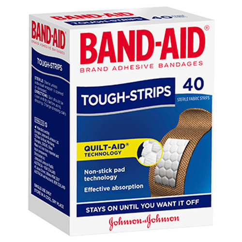 Band-Aid Brand Tough Strips 40 Pack at Blooms The Chemist