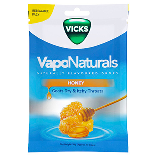 Vicks VapoNaturals Honey Flavoured Drops 19 Pack at Blooms The Chemist