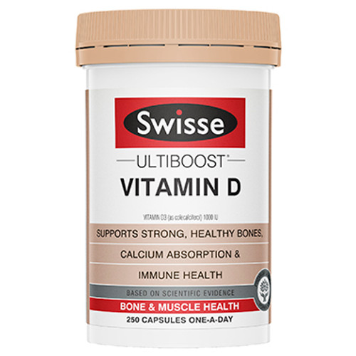 Swisse Ultiboost Vitamin D 250 tablets at Blooms The Chemist