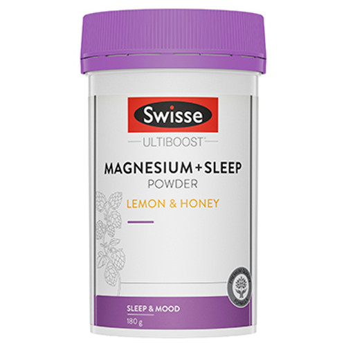 Swisse Ultiboost Magnesium + Sleep Powder Lemon & Honey 180g