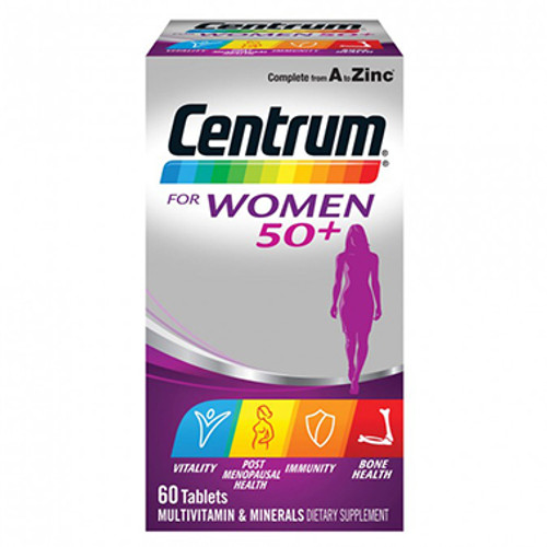 Centrum For Women 50+ Multivitamin 60 Tablets at Blooms The Chemist