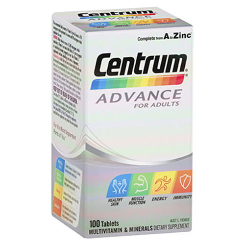 Centrum Advance For Adults 100 Tablets at Blooms The Chemist