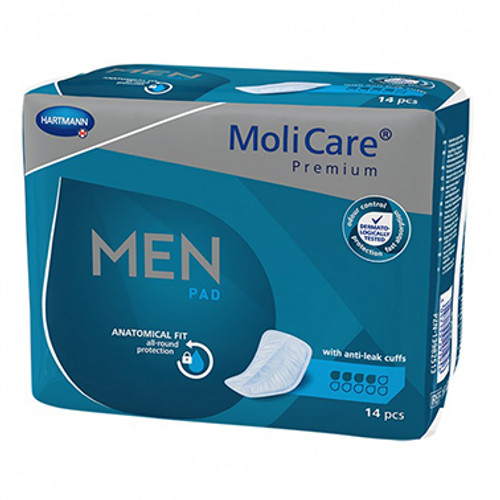 MoliCare Premium Men Pad 4 Drops 14 Pack at Blooms The Chemist