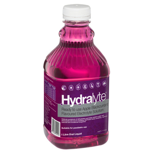 Hydralyte Ready To Use Electrolyte Solution Apple Blackcurrant 1L at Blooms The Chemist