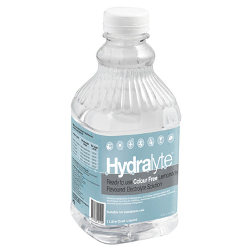 Hydralyte Ready to use Electrolyte Solution Colour Free Lemonade 1L at Blooms The Chemist