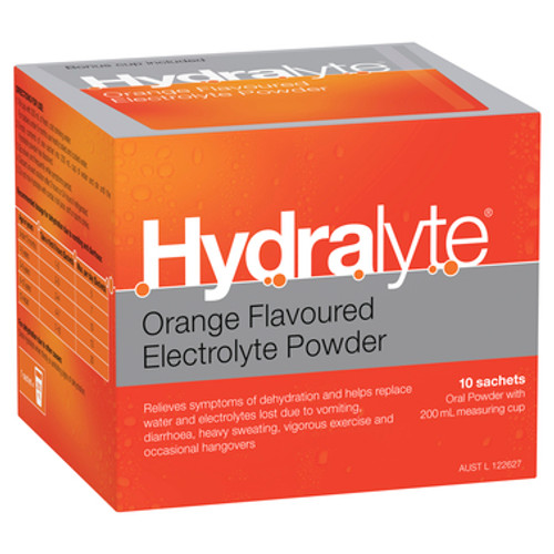 Hydralyte Electrolyte Powder Orange 10 Sachets at Blooms The Chemist