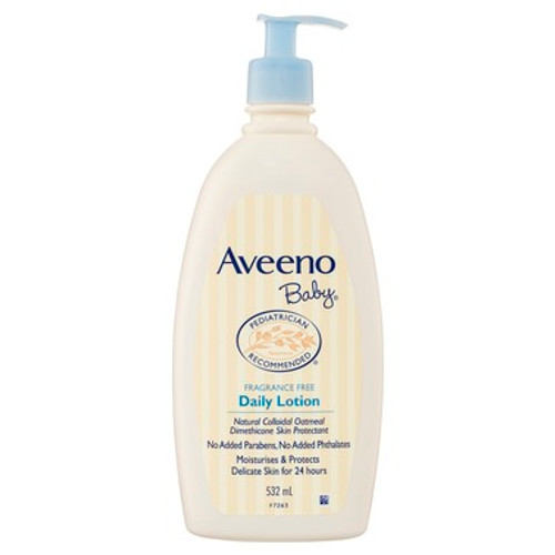 Aveeno Baby Fragrance Free Daily Lotion 532mL