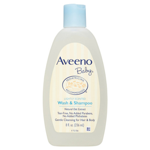Aveeno Baby Wash & Shampoo Lightly Scented 236mL