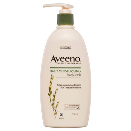 Aveeno Active Naturals Daily Moisturising Body Wash Soothing Oatmeal 532mL