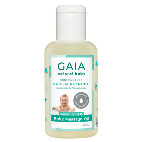 GAIA Natural Baby Massage Oil 125mL at Blooms The Chemist