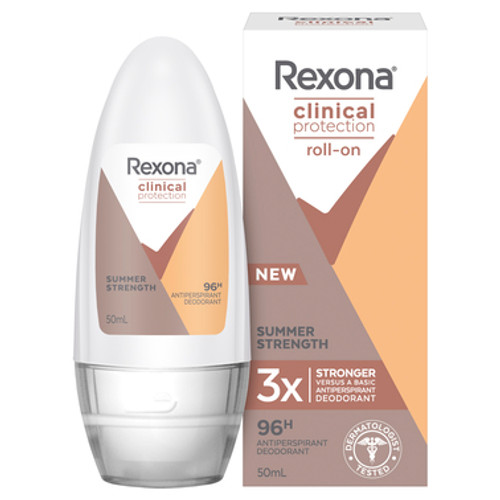 Rexona Clinical Protection Antiperspirant Roll On Summer Strength 50ml