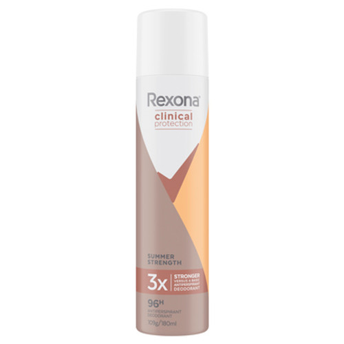 Rexona Clinical Antiperspirant Deodorant Summer Strength 180ml