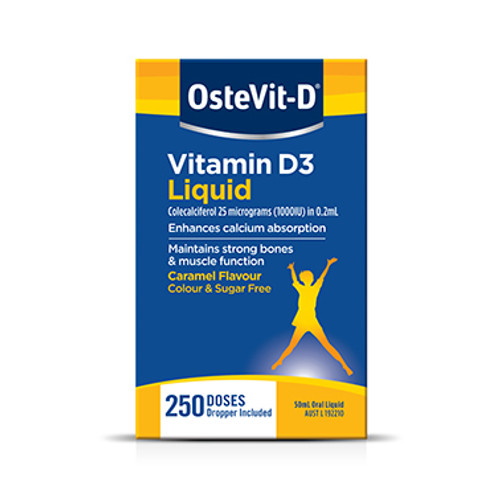 OsteVit-D Vitamin D3 Liquid 50mL at Blooms The Chemist