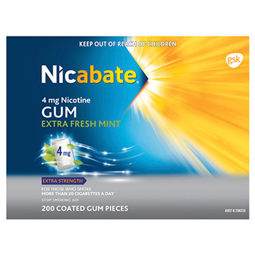 Nicabate Gum Extra Strength Extra Fresh Mint 4mg - 200 Pack