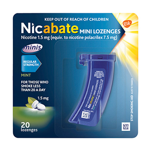 Nicabate Minis 1.5mg Mint Lozenges - 20 Pack Blooms The Chemist