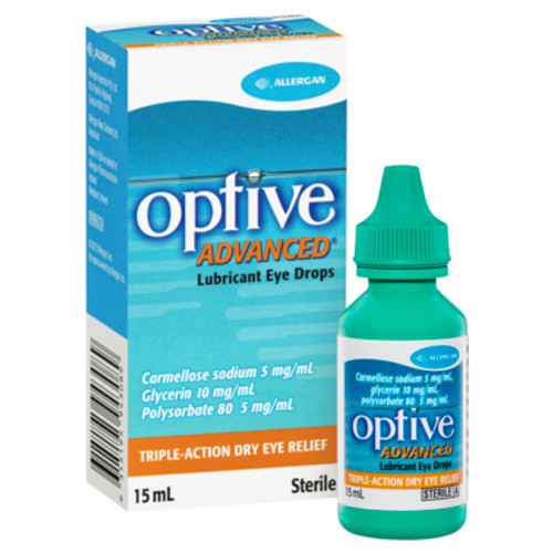 Optive Eye Drops Advanced 15ml at Blooms The Chemist