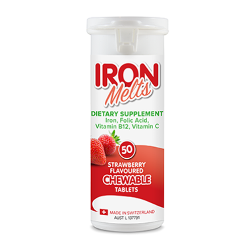 Iron Melts Chewable Tablets 50 Pack