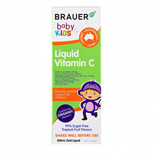 Brauer Baby & Kids Vitamin C Liquid 100ml at Blooms The Chemist
