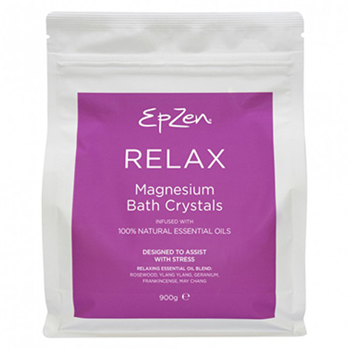 EpZen Magnesium Bath Crystals Relax 900g at Blooms The Chemist