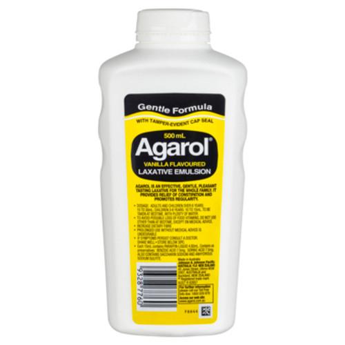 Agarol Laxative 500ml Vanilla at Blooms The Chemist