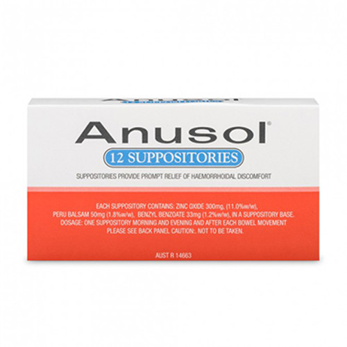 Anusol Suppository 12 Pack at Blooms The Chemist