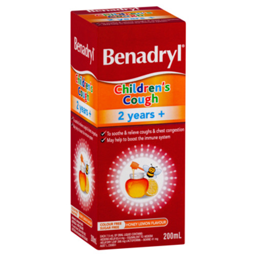 Benadryl Cough Liquid Child 200ml at Blooms The Chemist
