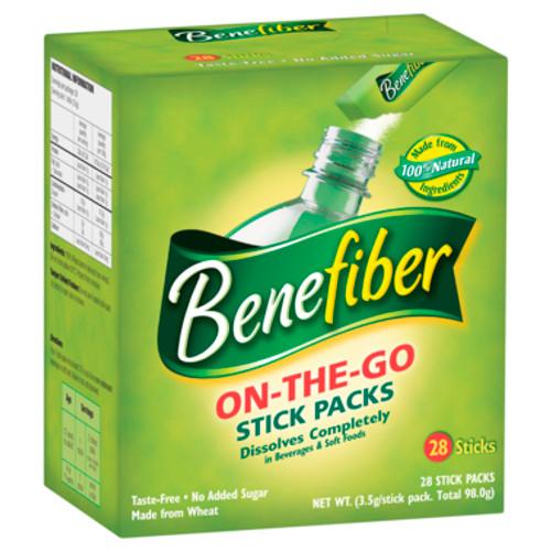 Benefiber Fiber Supplement On-The-Go Sticks 28pk