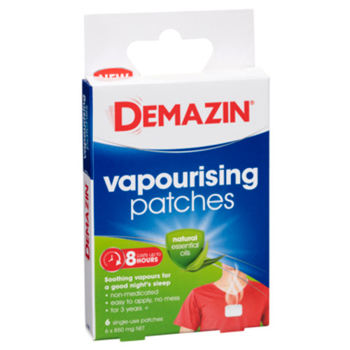 Demazin Vapourising Patches 6 Pack at Blooms The Chemist