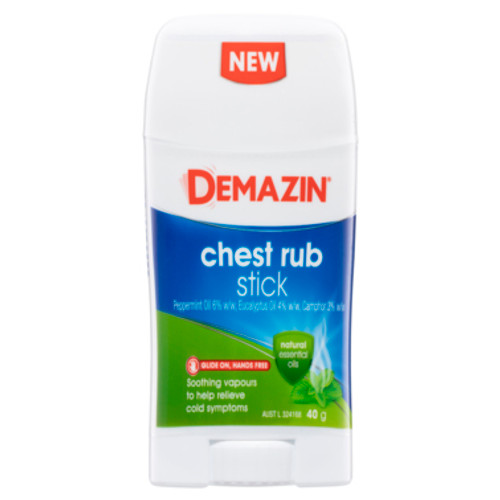 Demazin Chest Rub Stick 40g at Blooms The Chemist