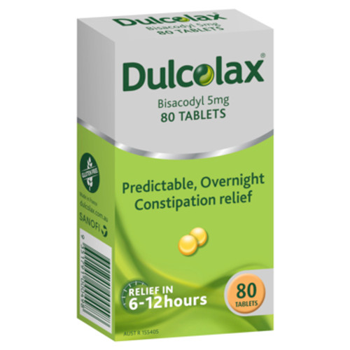 Dulcogas 5mg Dulcolax Tablets 80pk at Blooms The Chemist